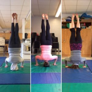 young warrior headstands