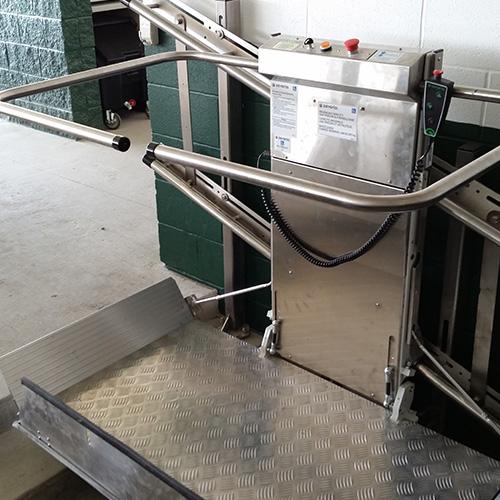 Inclined Platform Wheelchair Lift